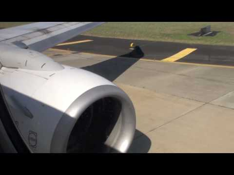 VH-VXQ Qantas Boeing 737-800 Take off No1 Engine View Turbine Row 4