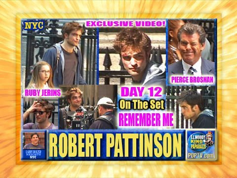 Robert Pattinson on set Remember Me day 12