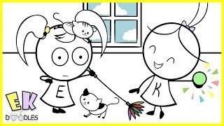 "Emma & Kate ""Cats vs Toddlers"" - EK Doodles Funny Cartoon Animation"