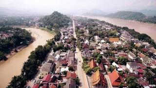 Muang Luang Prabang  - Sakkaline Road ( Drone ) 4k