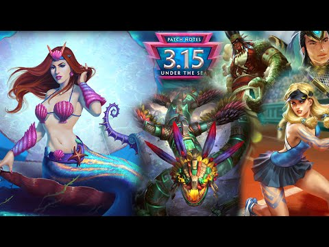 Smite Patch Notes 3.15 | Under The Sea | August 10th 2016 | Review