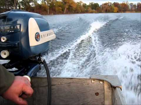 1958 Evinrude Sportwin 10hp Outboard Motor Youtube