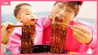 뽀로로 짜장면 엄마 삼촌 함께 먹어요! 인기영상 40분모음 요리놀이 장난감 놀이 Pororo Noodle pretend play with kids toys   MariAndKids