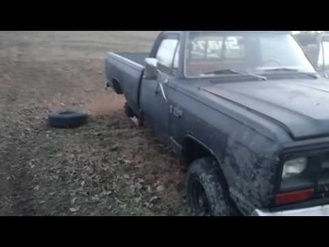 1987 Dodge Power Ram W150 breathing fire