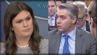 RIGHT AFTER CNN'S JIM ACOSTA ATTACKED HER, WHAT SARAH SANDERS SAID NEXT MADE HIM SHIVER
