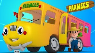 Wheels on the Bus Nursery Rhymes for Babies  | Kids Songs & Cartoon Videos for Children