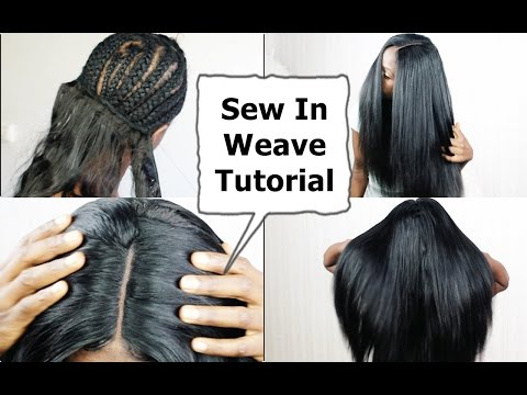 Watch me Do Full Sew In WEAVE No Leave Out NO GLUE Tutorial BEGINNERS FRIENDLY