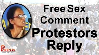 Protesters Reply to Free Sex comment by PETA Radha Rajan