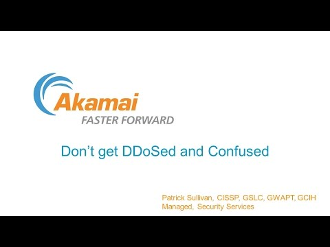 CSS2015: Session 6 Akamai - Don't Get DDoS and Confused
