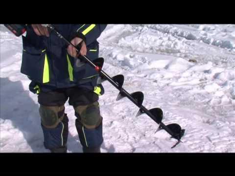 Шуруповёрт для бурения льда.