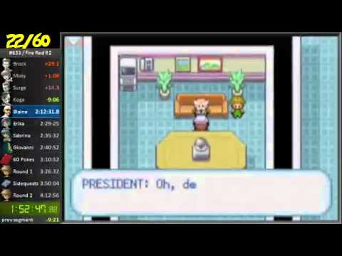 Pokemon Fire Red Round 2 3:52 Single Segment Speedrun