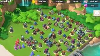 Boom Beach — attacks by biao and JessieZX7, hz on 6-7 boosted ice bases