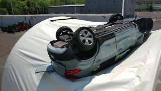 VOLVO XC 40 CUT OFF ON GARDEN STATE PARKWAY NORTH FRONT WHEEL COMES OFF 3 SURVIVE