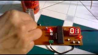 00-99 the counter circuit can be modified by pressing the button 89C51