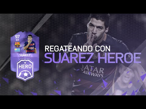 Regateando con Luis Suarez HEROE 97 | FIFA 16 Ultimate Team