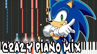 "Crazy Piano Mix! ""GOTTA GO FAST"" Sonic X Theme Song"