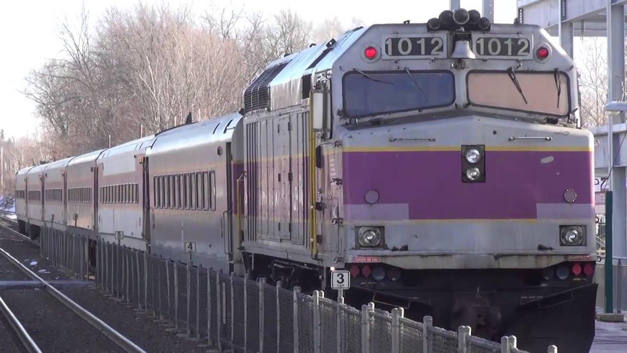 Leominster Mbta Commuter Train 1012 Inbound To Boston
