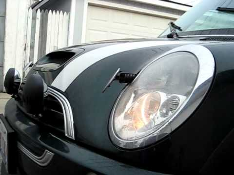 2004 Mini Cooper S R53 Xenon Headlight Washers Jets Youtube