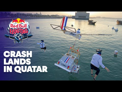 The first Red Bull Flugtag crash lands in Qatar