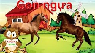 Dạy bé học các con vật | tiếng kêu con bò| con ngựa| dạy trẻ thông minh sớm