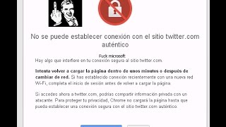 solucionar error SSL chrome certificados windows xp sp2 sin actualizar no programas Twitter
