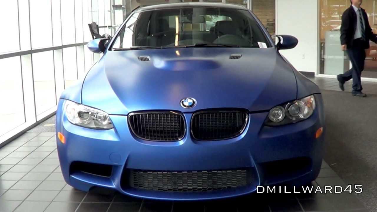 Bmw M3 E92 Blue >> Frozen Blue Edition BMW M3 E92 in detail - YouTube