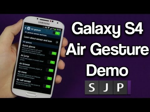 Samsung Galaxy S4 Air Gestures