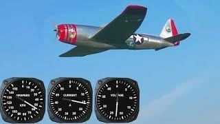 """Test rychlosti 3D tištěného P-47 (GPS) - 6S, motor AX-4008Q/620KV, APC 11x5,5"""""""