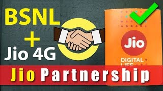 Reliance Jio Partnership with BSNL | Jio Voice Calling Solved | Jio 4G for BSNL Users !