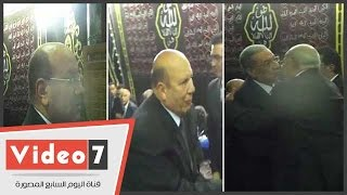 بالفيديو.. النائب العام وعادل لبيب وجنينة ومنصور العيسوى فى عزاء المستشار عنانى عبدالعزيز