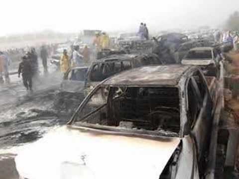 Abu Dhabi to Dubai road accident 11march 2008