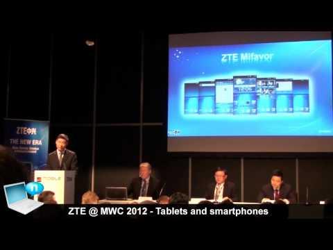 ZTE @ MWC 2012: tablet and smartphones