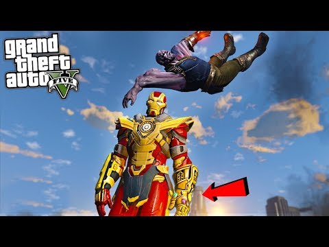 THANOS BUSTER ARMOR w/ INFINITY GAUNTLET - GTA 5 Mods