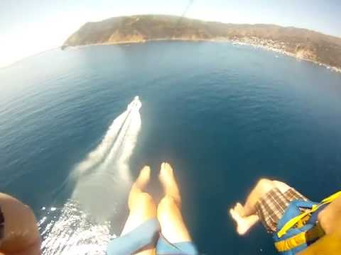 GoPro HD First time Parasailing on Catalina Island