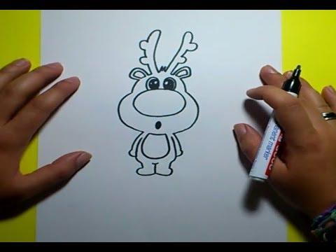 Como dibujar un reno paso a paso 2 how to draw a - Renos para dibujar ...