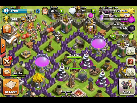 2 Clash of Clans Accounts   1 Iphone