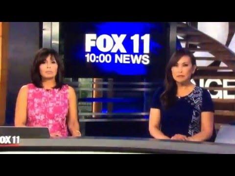 KTTV Fox 11 Ten O'Clock News Sunday open May 15, 2016