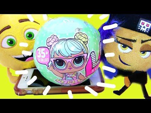 #LOL Surprise Seies 2 Dolls КУКЛЫ ЛОЛ И ЭМОДЖИ The Emoji Movie Видео для Детей #ЛОЛ Сюрпризы Мультик