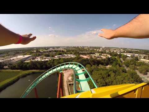 Kumba Ride - Busch Gardens - POV front row (GoPro Record)