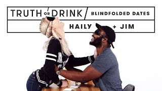 Blind(folded) Blind Dates (Haily & Jim) | Truth or Drink | Cut