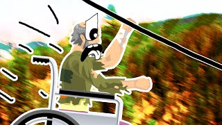 SUPER ZIPLINER - Happy Wheels
