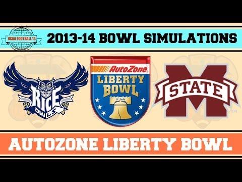 AutoZone Liberty Bowl (Mississippi St. vs Rice) NCAA Football 14