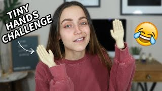 DOING MY MAKEUP WITH TINY HANDS.... omg