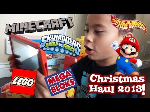 CHRISTMAS HAUL 2013 - LEGO, Minecraft, Hot Wheels, Skylanders, Nintendo, Mega Bloks and MORE!