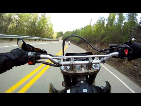 wr250x fun ride with my friend riding in fairbanks,alaska