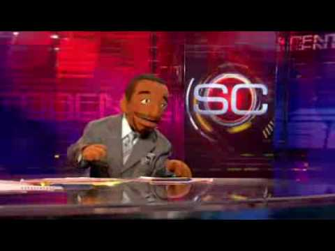 LeBron James and Kobe Bryant Puppets Sing SportsCenter Theme