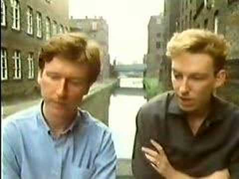 Bernard Sumner talks to Peter Saville. Hacienda Factory
