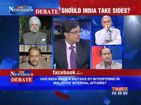 The Newshour Debate  Should India Take Sides In Maldives Crisis?  Part 1 Of 2