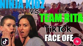 Ninja Kidz Vs Team Rita Tik Tok Face Off