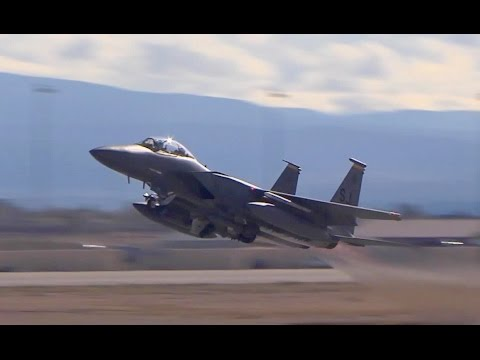 Red Flag Exercise - Aircrafts Takeoffs & Landings  Nellis Air Force Base video